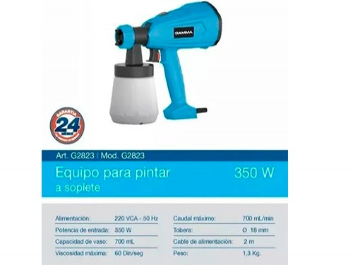 Maquina Pistola Equipo De Pintar Gamma 350w Soplete Pintura