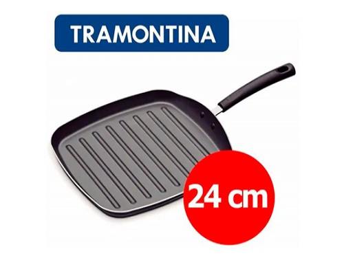 Bifera Grill Tramontina Teflon Antiadherente Plancha 24 Cm