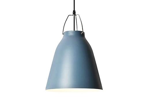 Lámpara Colgante Vintage Leuk Azul Brillante 38x26cm.