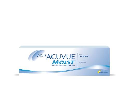 Lentes de contacto diarios 1Day Acuvue Moist para miopía