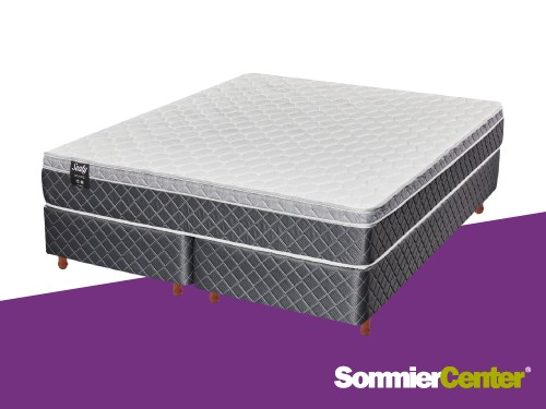 Sommier y colchón Alta Densidad 2 1/2 plazas 160x200x24 Europillow