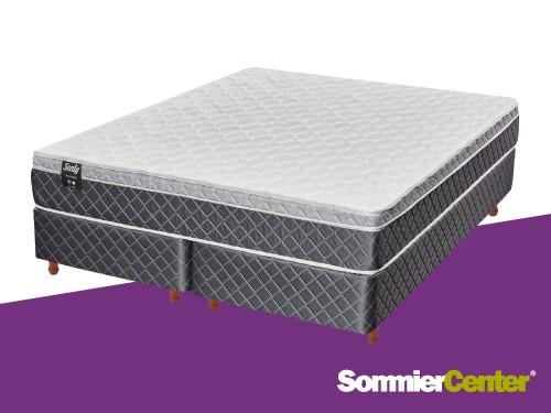 Sommier y colchón Alta Densidad King 200x200x24 Europillow Sealy