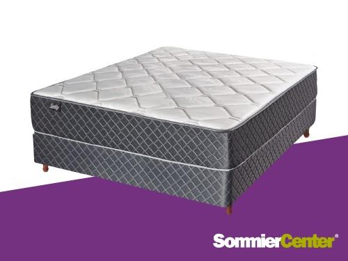 Sommier y colchón Media Densidad 2 plazas 140x190x20 Jackard Sealy