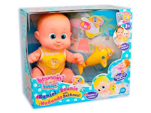 Muñeca Bouncin Babies Nadando con Delfines Baniel