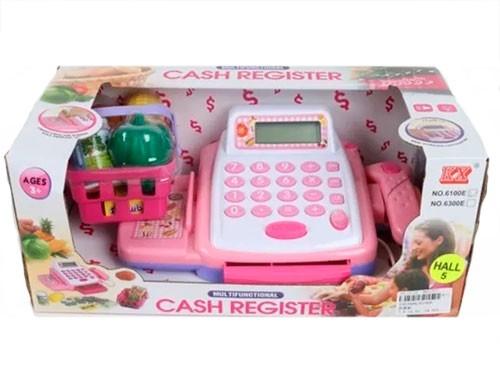 Caja Registradora Rosa Con Accesorios 1563496