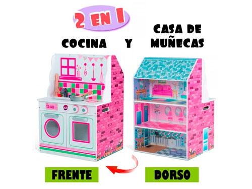 Casa De Muñecas Y Cocina 2 En 1 Plum 41070