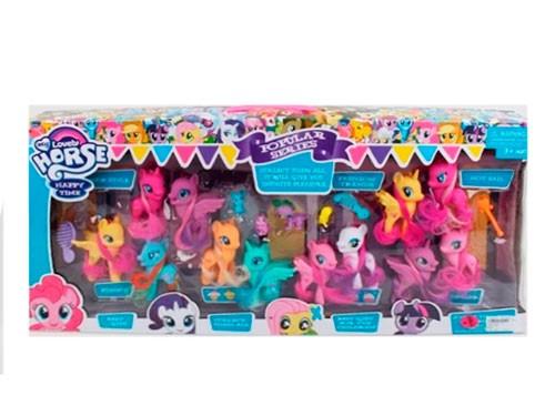 Figuras Adorables Ponys Con Luz 6 pcs 1728829
