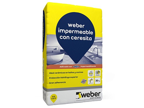 Adhesivo para cerámica impermeable 30kg WEBER