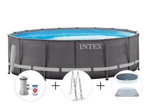 Pileta Estructural Ultra Frame Intex 488 X 122 Cm + Accesorios 23857/9