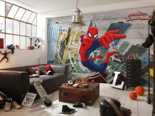 Fotomural Diseño Spiderman 3,68 X 2,54 Mts 8 Paños
