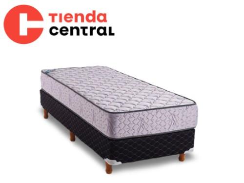 Colchón y Sommier 1 Plaza 80x190 Topacio Esmeralda
