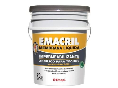 Membrana Liquida Impermeabilizante Acrilico Emacril 20 Kg
