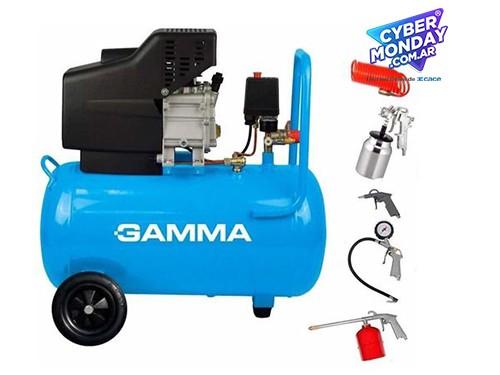 Compresor De Aire Gamma Garantia 2 Años + Kit 5 Pz Combo!