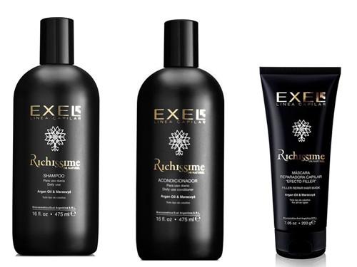 Combo cabellos Richissime Shampoo+acondicionador+mascara Exel