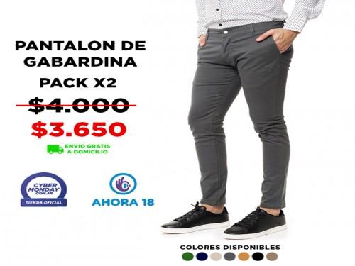 Pantalón Gabardina Hombre Pack X2 VINSON
