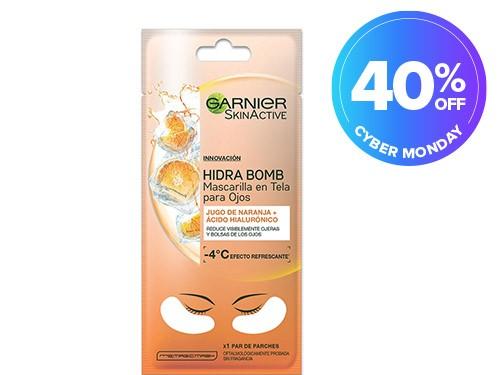 Mascarilla en Tela para Ojos Garnier Skin Active Naranja x 1 u