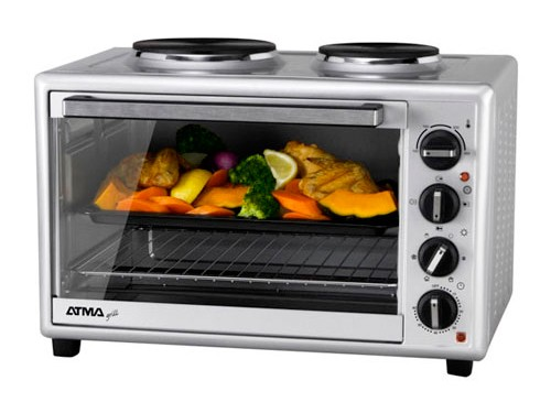 HORNO GRILL ACERO 40LTS 1500W 2 ANAFES SUPERIORES ATMA