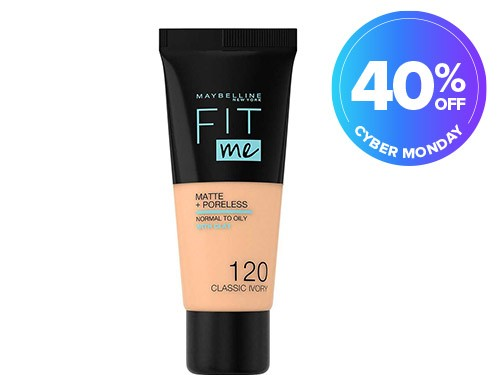 Base Maybelline Fit Me Matte y sin poros 120 Classic Ivory x 30ml
