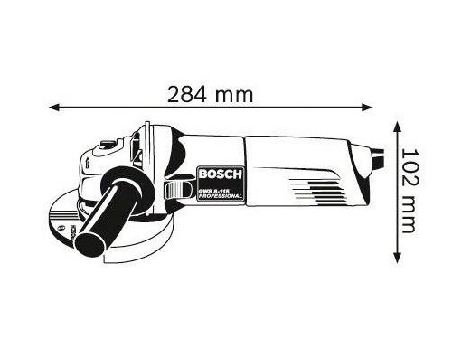 MINI AMOLADORA ANGULAR GWS 8-115 P BOSCH