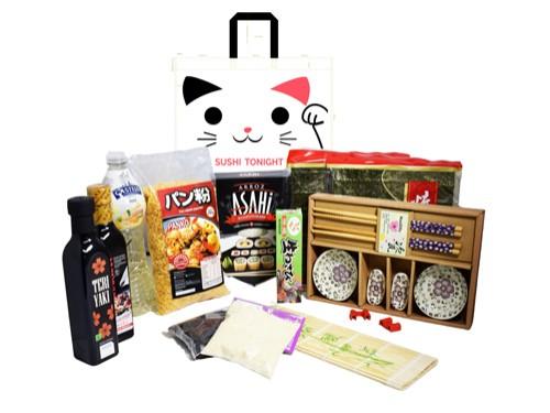 Kit Sushi Premium + Alga + Arroz + Salsa + Wasabi + Palitos
