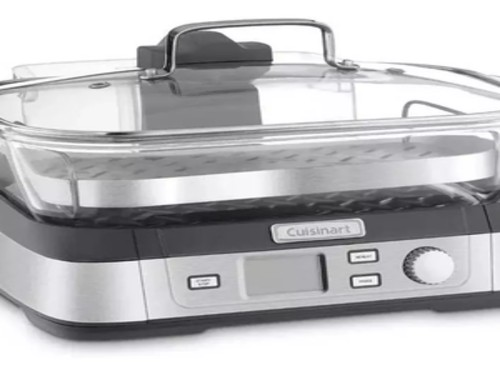 Cuisinart Stm1000ar Vaporiera Digital Plato De Vidrio 1800w