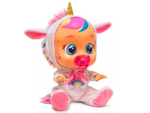 Muñeca Cry Babies Unicornio Dreamy