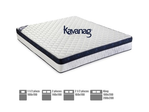 Colchón resortes PRESTIGE premium 5 años de garantía Kavanag