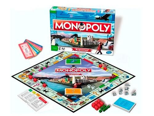 Juego De Mesa Monopoly Argentina Fichas Metal Lic. Hasbro