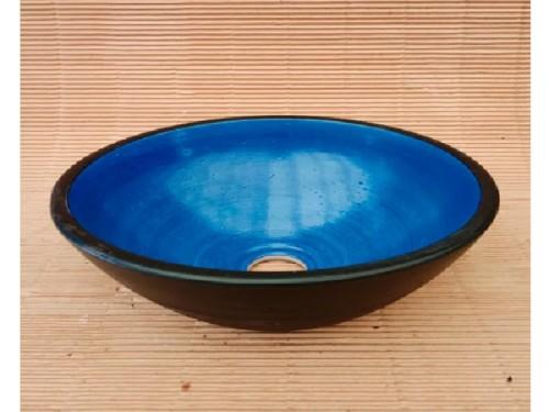 Bacha Elíptica Azul Negro Fango