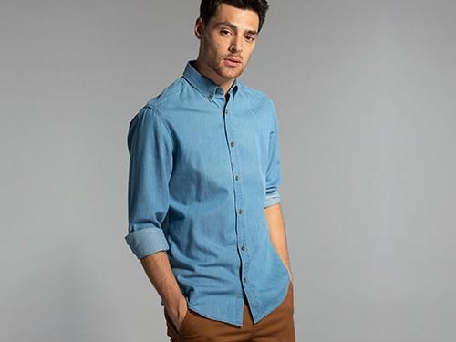 Camisa Denim Custom Fit