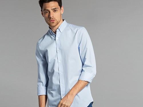 Camisa Lisa de Algodón Regular Fit