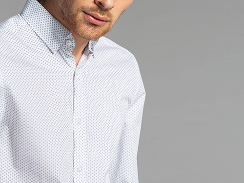 Camisa Estampada Regular Fit de Algodón