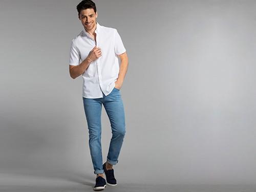 Camisa Lisa Manga Corta 100% Algodón