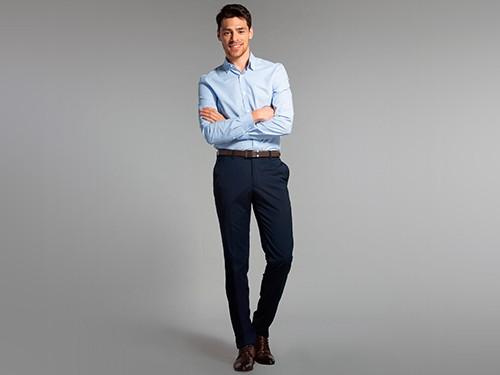 Camisa de Vestir Ratier con Cuello Italiano 100% Algodón