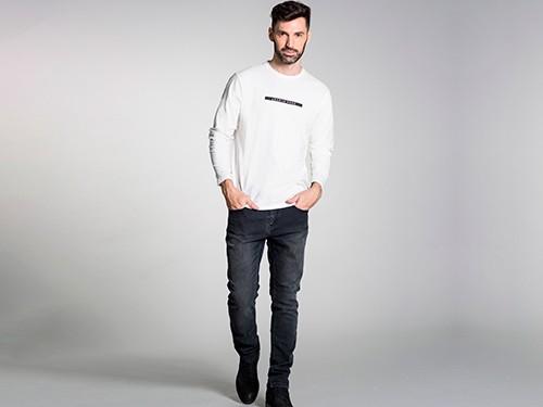 Jean Gastado Slim Fit