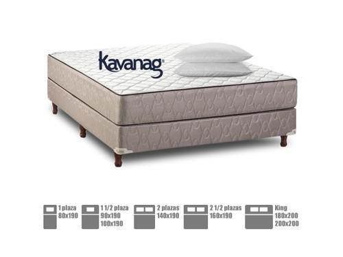Colchón y Sommier de resortes + almohada 5 años de garantía Kavanag