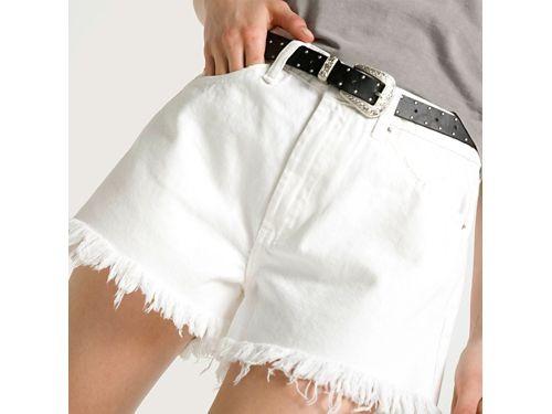 Americanino Short de jean mujer con flecos