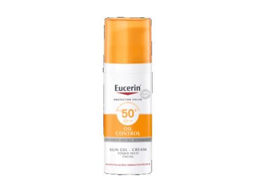 Protector solar Facial Sun Gel Crema Toque Seco SPF50+ 50ml Eucerin