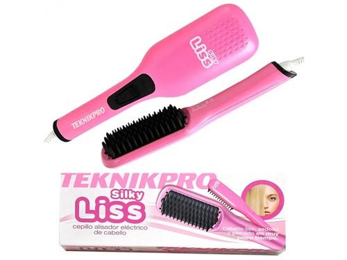 Cepillo Alisador Eléctrico de Cabello TeknikPro Silky Liss