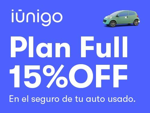 Seguro contra todo riesgo para tu auto usado con 15% OFF en iúnigo
