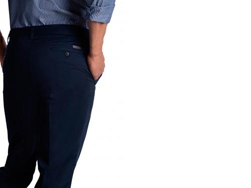 Pantalón de Gabardina Liso Entallado