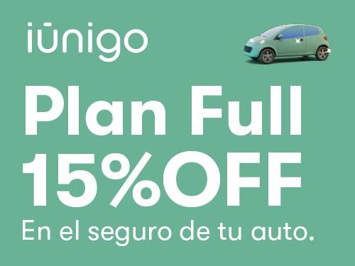 Seguro contra todo riesgo para tu auto con 15% OFF en iúnigo