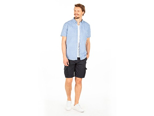 Camisa Manga Corta a Cuadros Slim Fit