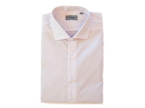 Camisa de Vestir de Calce Clásico de Cuello Italiano