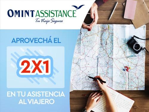 2x1 en Asistencia de viaje, Cobertura COVID USD 20000, ideal Uruguay