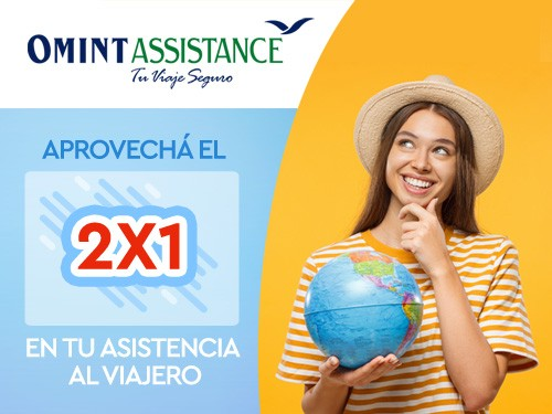 2x1 en Asistencia de viaje, Cobertura COVID USD 30000 ideal Montevideo