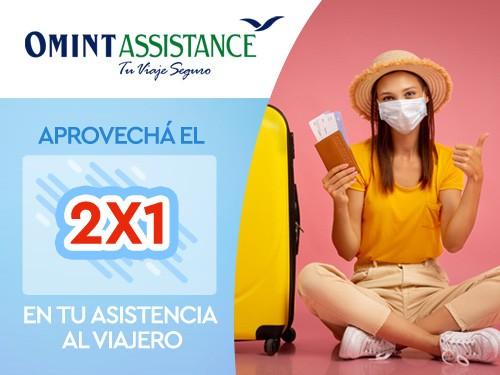 2x1 en Asistencia de viaje, Cobertura COVID USD 30000, ideal Chile