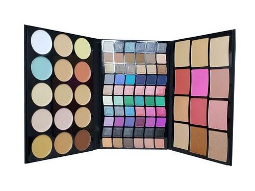 Set Maquillaje 87 Variedades de Sombras Correctores Rubores Pink 21