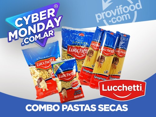 COMBO PASTAS SECAS - 5 VARIED- 2.5KG LUCCHETTI