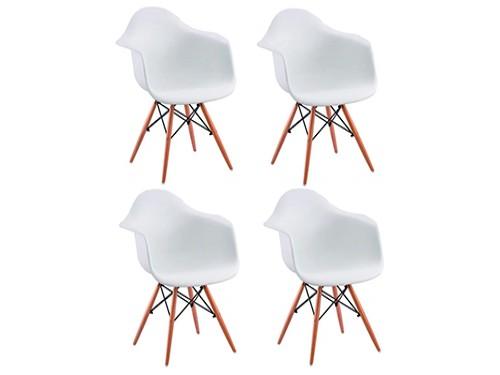 Sillón Silla Eames Escandinavo X4un Comedor Patas Madera